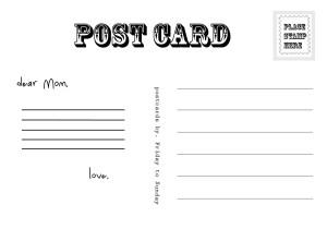 hari ibu poscard